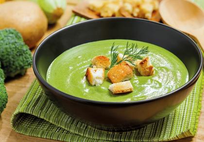 Крем - суп з цуккіні та брокколі